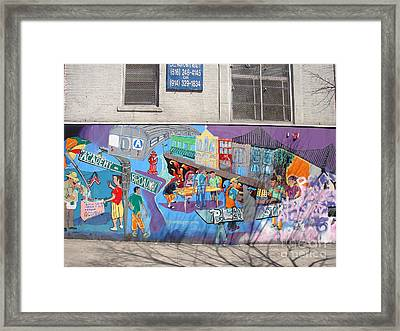 Framed Print featuring the photograph Academy Street Mural by Cole Thompson
