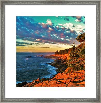 Acadia At Dawn Framed Print