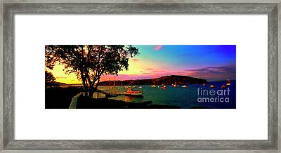 Framed Print featuring the photograph  Acadia Bar Harbor Sunset Cruises by Tom Jelen