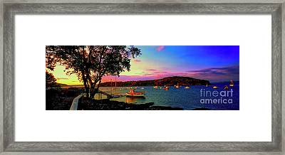 Acadia Bar Harbor Sunset Cruises.tif Framed Print