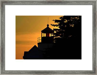 Acadia Lighthouse Framed Print by Barry Shaffer