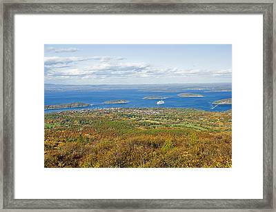 Acadia National Park In Autumn, Maine Framed Print by James Forte