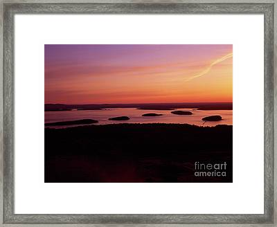 Acadia National Park Maine - Frenchman Bay Framed Print