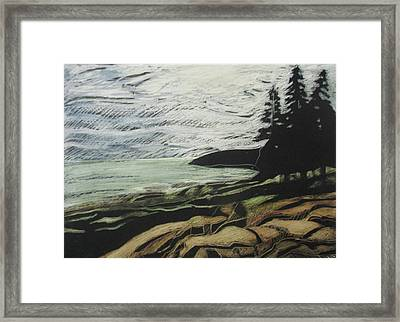 Acadia - Ocean Path View Framed Print by Grace Keown