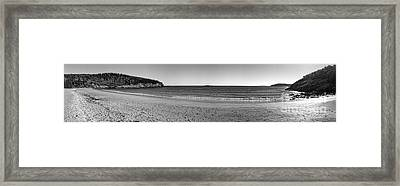 Acadia Sand Beach Panorama Framed Print by Olivier Le Queinec