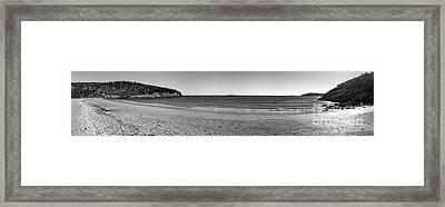 Acadia Sand Beach Panorama Framed Print