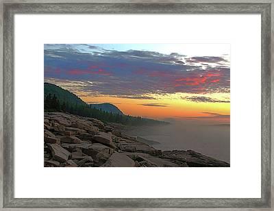 Acadia Sunrise  Framed Print