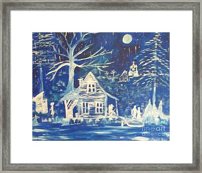 Acadian Blue Willow Framed Print by Seaux-N-Seau Soileau