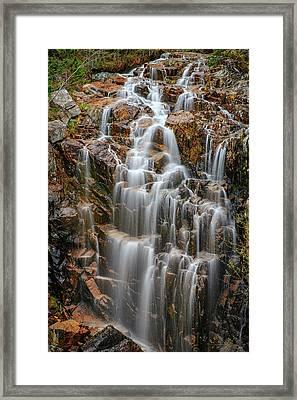 Acadia's Hadlock Falls Framed Print