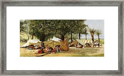 Accampamento Framed Print by Guido Borelli