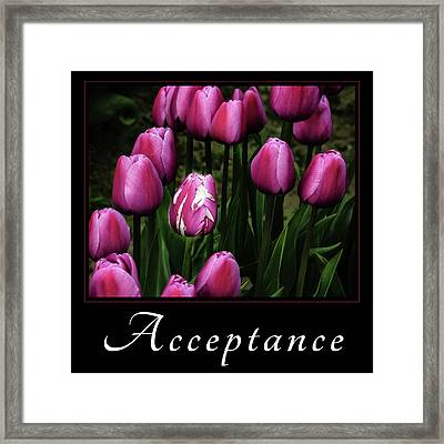 Framed Print featuring the photograph Acceptance by Mary Jo Allen