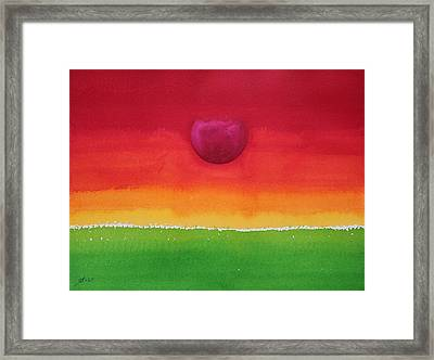 Acceptance Original Painting Framed Print by Sol Luckman