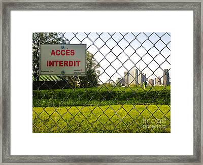 Acces Interdit Framed Print by Reb Frost