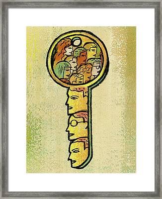 Access Framed Print by Leon Zernitsky