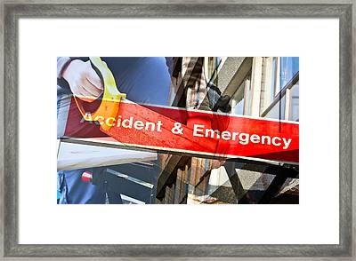 Accident Risk Framed Print by Tom Gowanlock