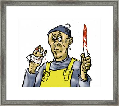 Accident With Filet Knife Framed Print