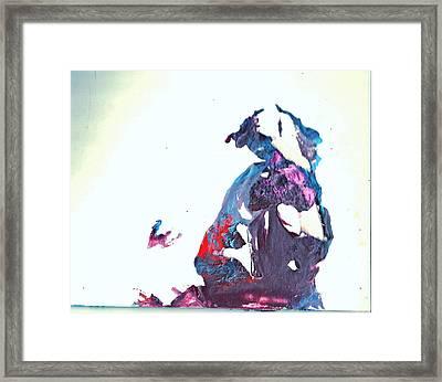 Accidental Clown Framed Print by Anne-Elizabeth Whiteway