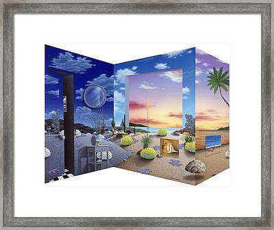 Accidental Meeting Framed Print by Snake Jagger