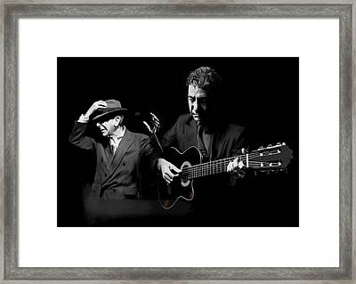 Accompaniment  Lenard Cohen Framed Print by Iconic Images Art Gallery David Pucciarelli