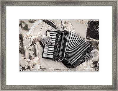 Accordion Player Framed Print