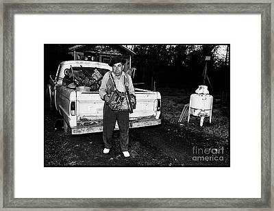 Accordion Scrapper Man  Framed Print by Peter Gumaer Ogden