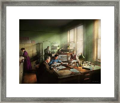 Framed Print featuring the photograph Accountant - The- Bookkeeping Dept 1902 by Mike Savad