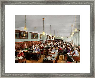 Accountant - Workaholic 1923 Framed Print by Mike Savad