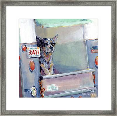 Acd Delivery Boy Framed Print