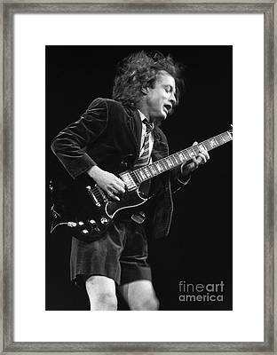 Acdc-96-angus-0090 Framed Print