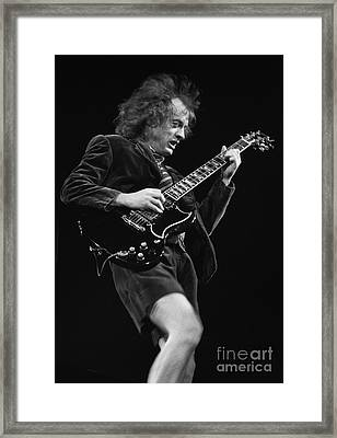 Acdc-96-angus-0092 Framed Print