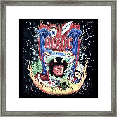 Acdc Framed Print by Gina Dsgn
