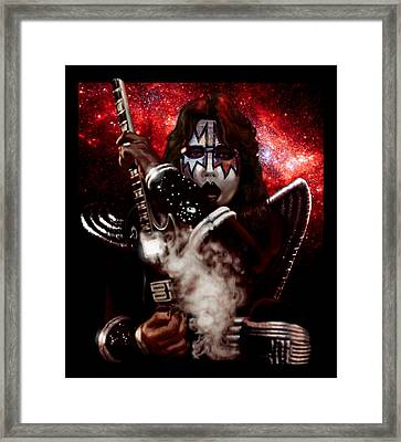 Ace Frehley Red Solo Space Framed Print