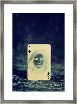 Ace Of Clubs Framed Print by Amanda Elwell