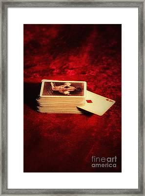 Ace Of Diamonds Framed Print by Amanda Elwell