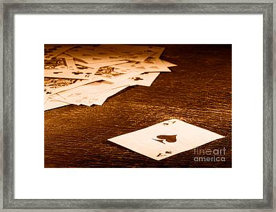 Ace Of Spade - Sepia Framed Print by Olivier Le Queinec