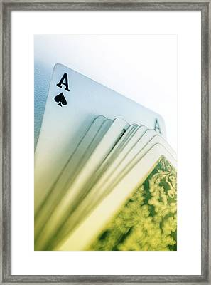 Ace Of Spades Framed Print by Carlos Caetano