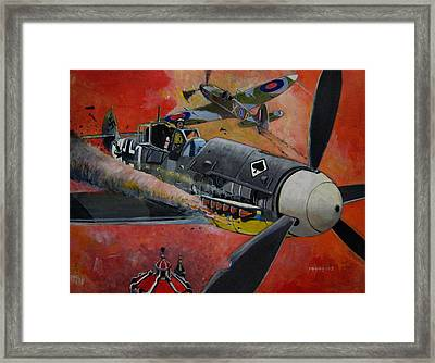 Ace Of Spades Framed Print by Ray Agius