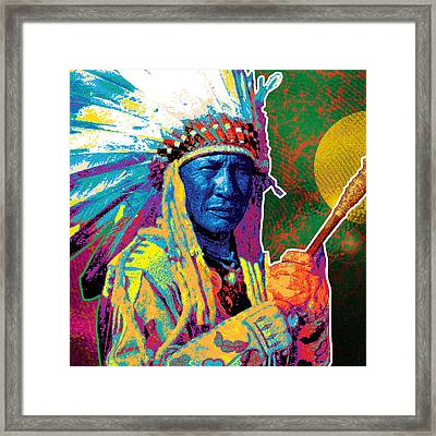 Aceca Indian Chief Framed Print