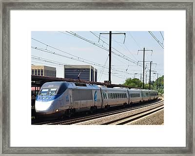 Acela Express Framed Print by Jim Poulos