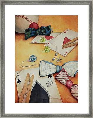 Aces And Jacks Framed Print by Lorraine Ulen
