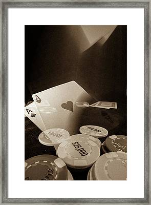 Aces Up Framed Print by Mark Dunton