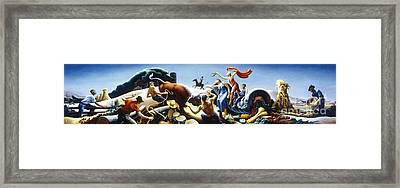 Achelous And Hercules Framed Print by Pg Reproductions