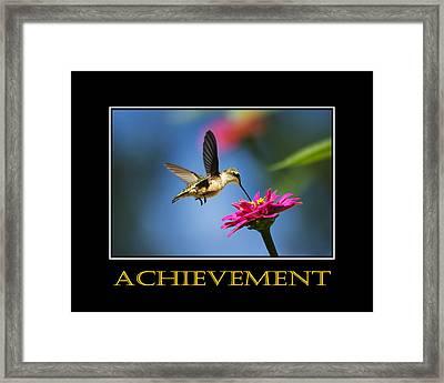 Achievement  Inspirational Motivational Poster Art Framed Print by Christina Rollo