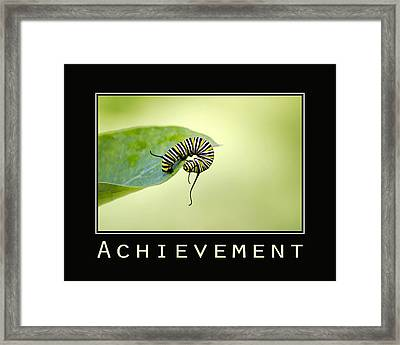 Achievement Inspirational Poster Framed Print