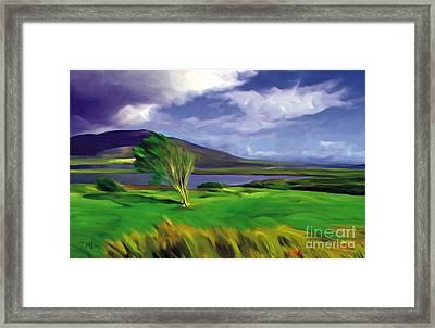 Achill Island Ireland  Sunny Framed Print by Bob Salo