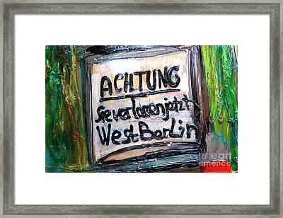 Achtung West Berlin Framed Print