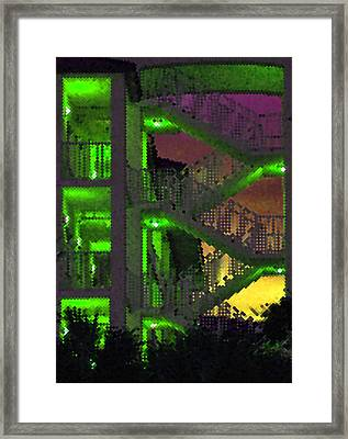 Acid Glow Framed Print