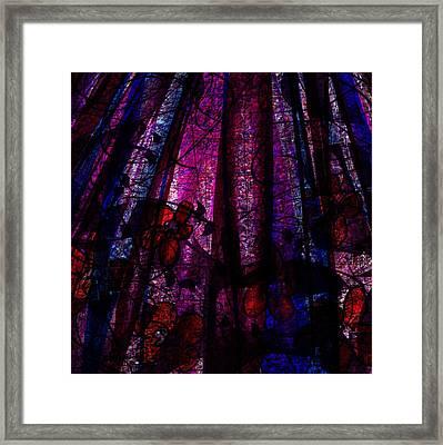 Acid Rain With Red Flowers Framed Print by Rachel Christine Nowicki