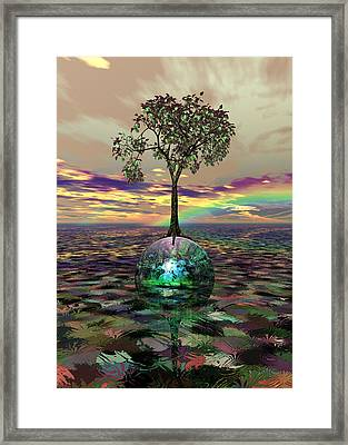 Acid Tree Framed Print