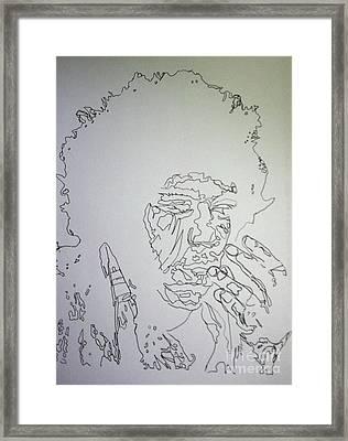 Acid Trip Jimi Framed Print